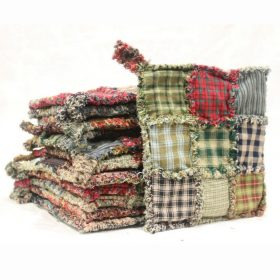 Potholder - Nine Patch Primitive Rag Potholder - Family Farm Quilts
