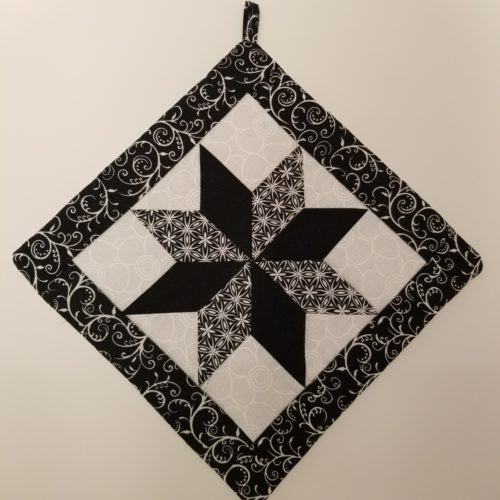 Star Potholders-Neutrals-Family Farm Handcrafts