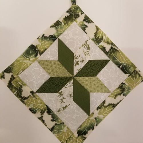 Star Potholders-Greens-Family Farm Handcrafts