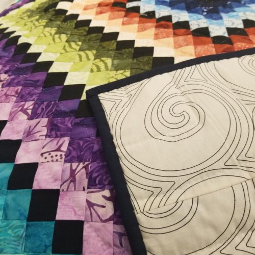 Postage Stamp Throw Quilt - Family Farm Handcrafts