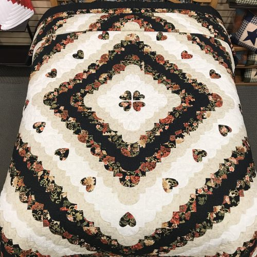 Hearts All Around Quilt- Queen- Family Farm Handcrafts