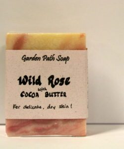 Homemade Lye Soap - Wild Rose w Cocoa Butter