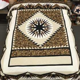 Mariners Compass Quilt- Queen- Family Farm Handcrafts