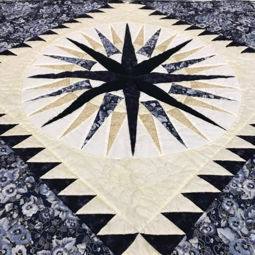 Mariner's Compass Quilt - Queen - Family Farm Handcrafts