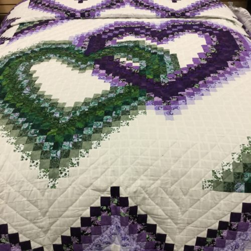Linking Hearts Quilt - Queen - Family Farm Handcrafts
