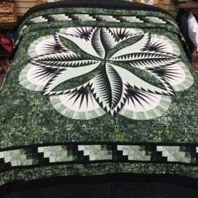 Fire Island Hosta Quilt - Queen - Family Farm Handcrafts
