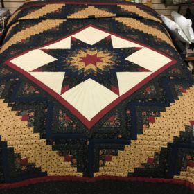 Log Cabin Lone Star Quilts - Queen - Family Farm Handcrafts