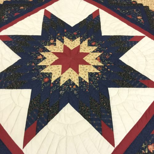 Log Cabin Lone Star Quilts - King - Family Farm Handcrafts