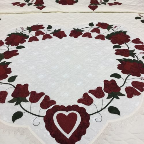 Lacy Heart of Roses Quilts - King - Family Farm Handcrafts