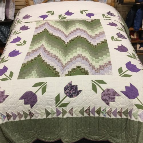 Spring Tulip Quilt - Queen - Family Farm Handcrafts
