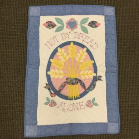 Not By Bread Alone Wall Hanging - Family Farm Handcrafts