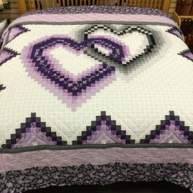 Linking Hearts Quilt - King - Family Farm Handcrafts