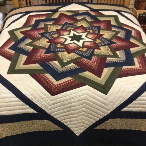 Kaleidoscope Quilt - King - Family Farm Handcrafts