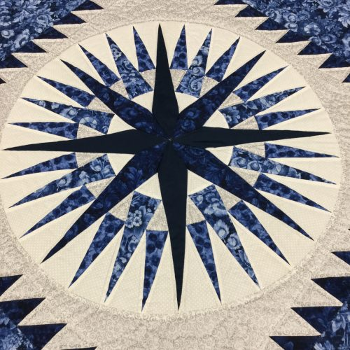 Mariner's Compass Quilt - King - Family Farm Handcrafts