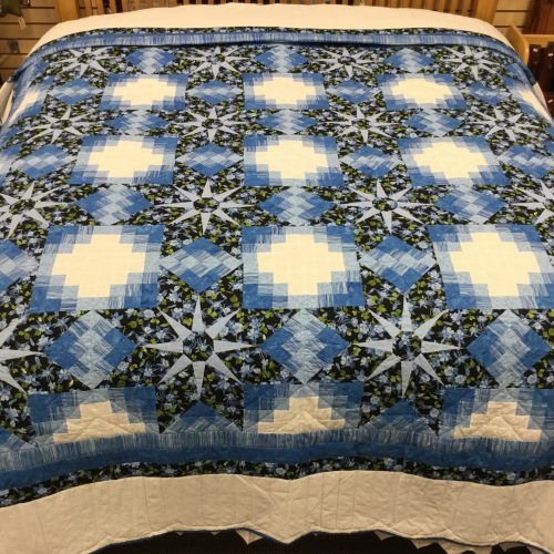 Shadow Star Quilt - King - Family Farm Handcrafts