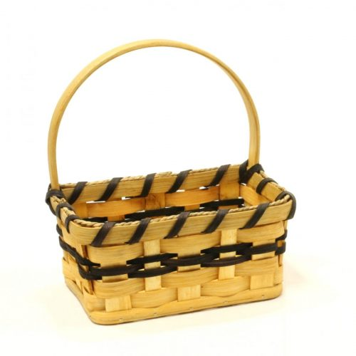 Woven basket for key - medium key basket with handle