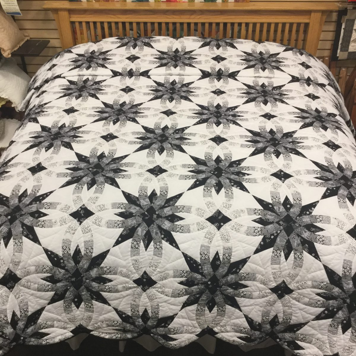 star wedding ring quilt king - Wedding Ring Quilts For Sale