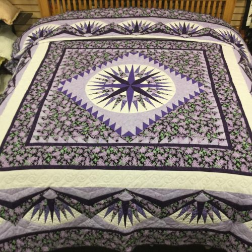 Family Farm Handcrafts-King Sized-Mariners Compass Quilt