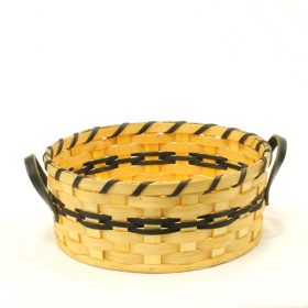 Bun Basket- Large Bun Basket - Leather handled basket