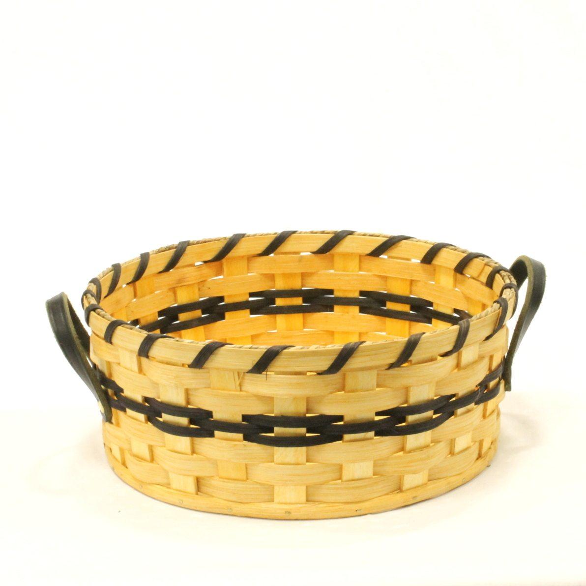 Bun Basket- Large Bun Basket - Leather handled basket