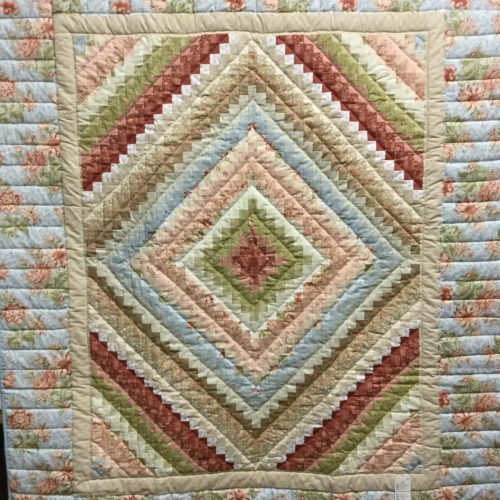 Family Farm Fabrics of Shady Maple- Postage Stamp Throw Quilt- Throw Quilt