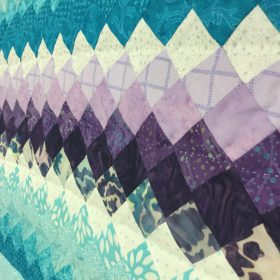 Family Farm Handcrafts-King-Mariners Postage Stamp Quilt