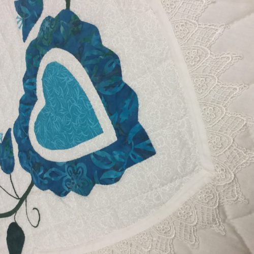 Family Farm Handcrafts-King-Lacey Heart of Roses Quilt
