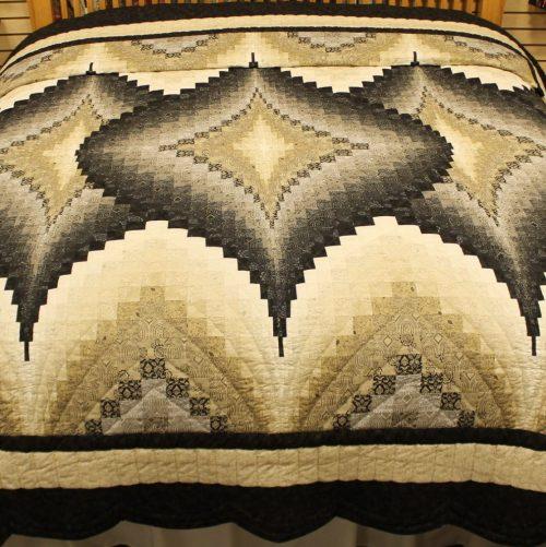Argyle King size quilt- Black Tie Affair Quilt - Family Farm Quilts