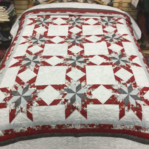Christmas Colonial Star-Queen Quilt-Family Farm Handcrafts