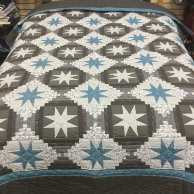 eight point star amish quilt pattern design style