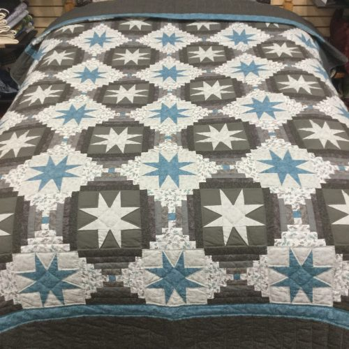 Eight Point Star- Queen Quilt-Family Farm Handcrafts