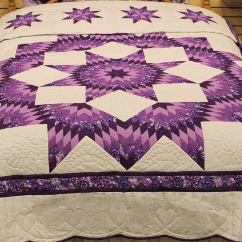 Amish quilt for sale - Broken Star Quilt for sale at Family Farm Quilts