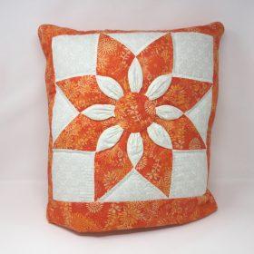 Dahlia Quillow-Orange-Family Farm Handcrafts