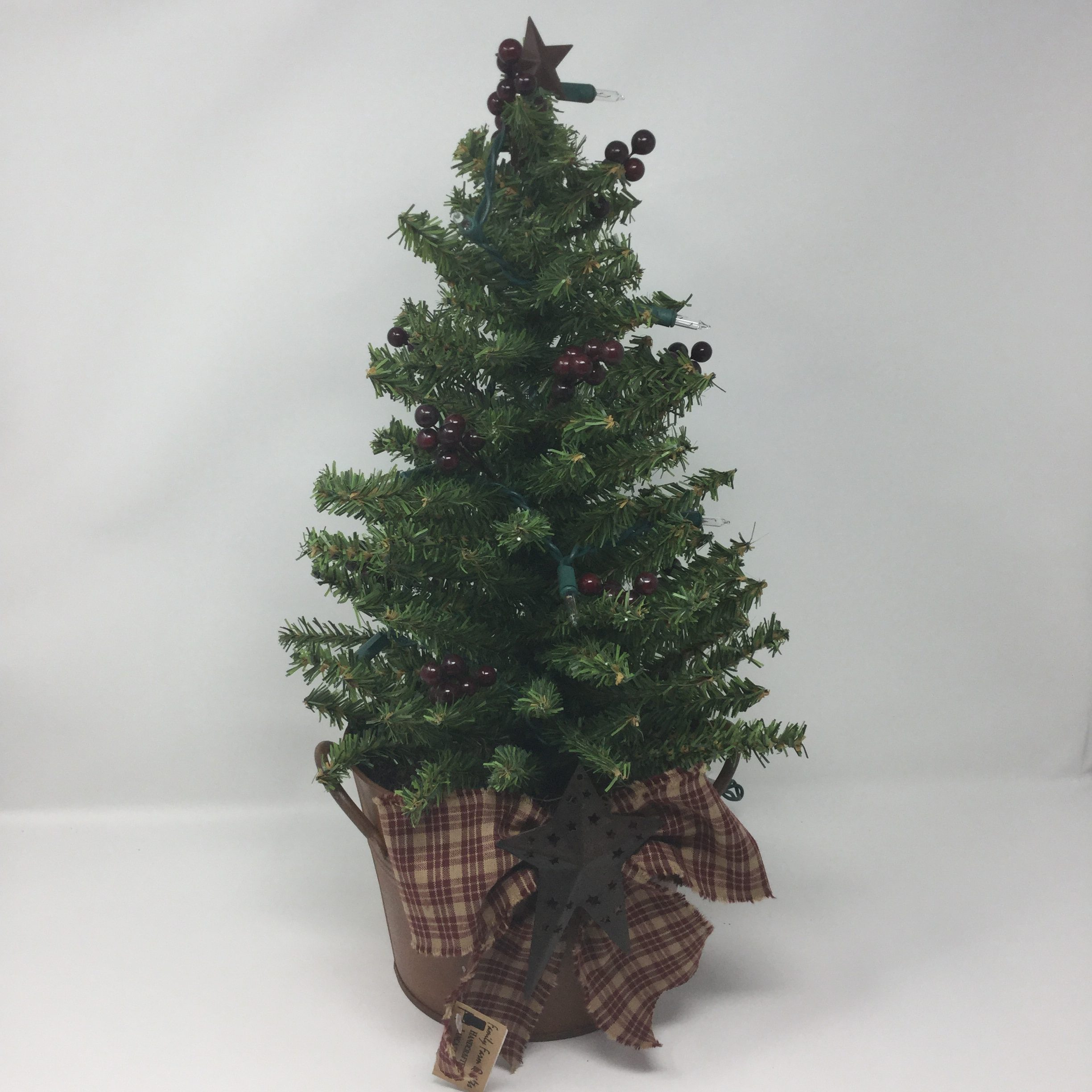 potted christmas tree with lights family farm handcrafts - Potted Christmas Tree