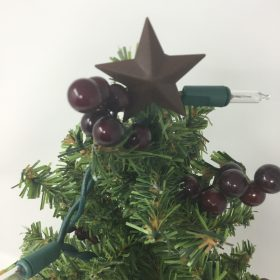 Potted Christmas Tree With Lights-Family Farm Handcrafts