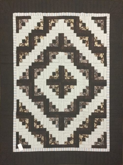 Log Cabin Throw Quilt-Family Farm HandcraftsLog Cabin Throw Quilt-Family Farm Handcrafts