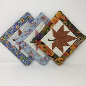 Quilted Autumn Splendor Potholder-Family Farm Handcrafts