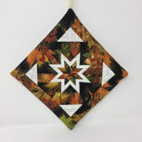 Folded Star Hot Mat-Autumn-Family Farm Handcrafts