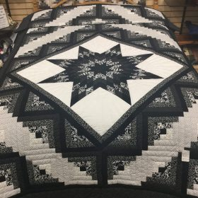 Log Cabin Lone Star Quilt-Twin-Family Farm Handcrafts