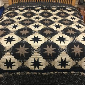 Eight-Point Star Quilt-King-Family Farm Handcrafts