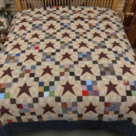 Ancient Star Quilt - King - Family Farm Handcrafts