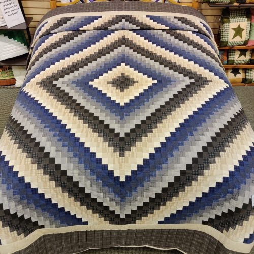 Flannel Postage Stamp Quilt - Queen - Family Farm Handcrafts