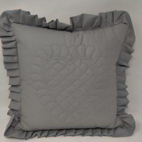 Ruffled Heart Pillow - Family Farm Handcrafts