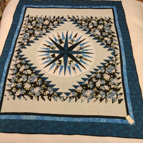 Mariner's Compass Throw Quilt - Family Farm Handcrafts