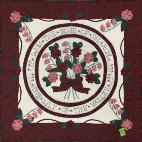 Rose of Sharon Wall Hanging-Family Farm Handcrafts