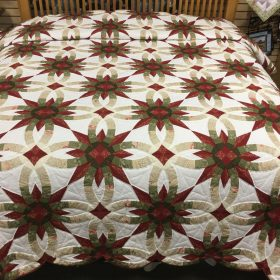 Star Wedding Ring Quilt-King-Family Farm Handcrafts