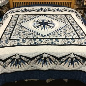 Mariner's Compass Quilt-King-Family Farm Handcrafts