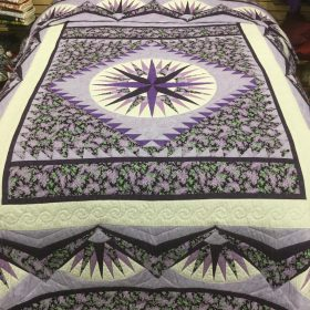 Mariner's Compass Quilt-Queen-Family Farm Handcrafts