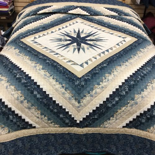 Mariner's Postage Stamp Quilt-Queen-Family Farm Handcrafts