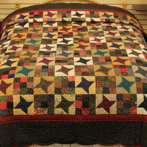 Ancient Star Quilt - Queen Star Quilt - Family Farm Quilts of Shady Maple